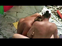 Beach, Threesome, Xhamster
